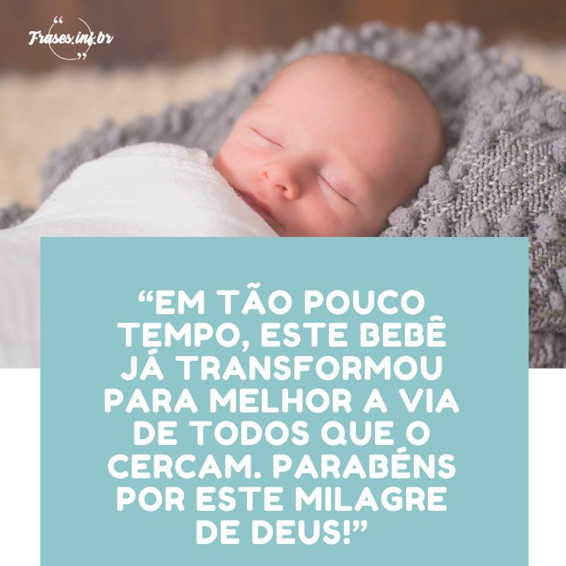 mensagens sobre bebes