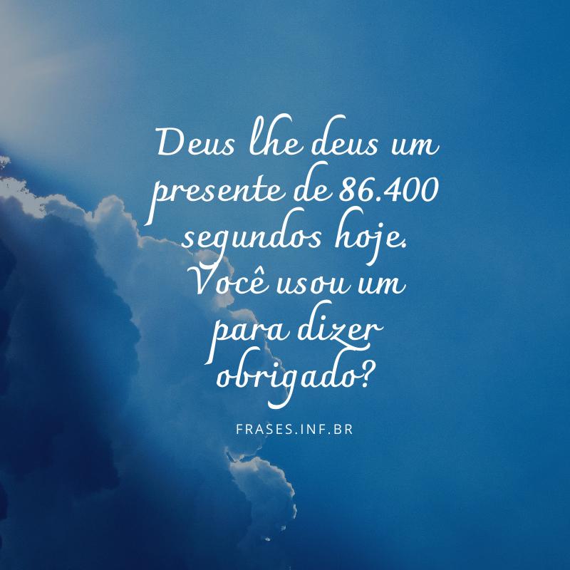 Frase de agradecimento a Deus