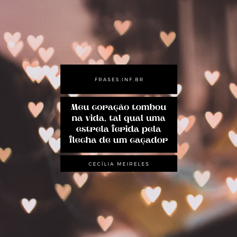 Frase de amor Cecília Meireles