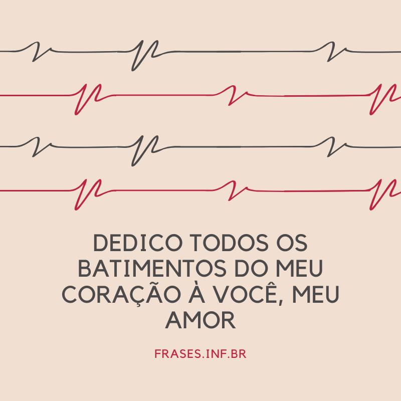 Frase de amor do coração