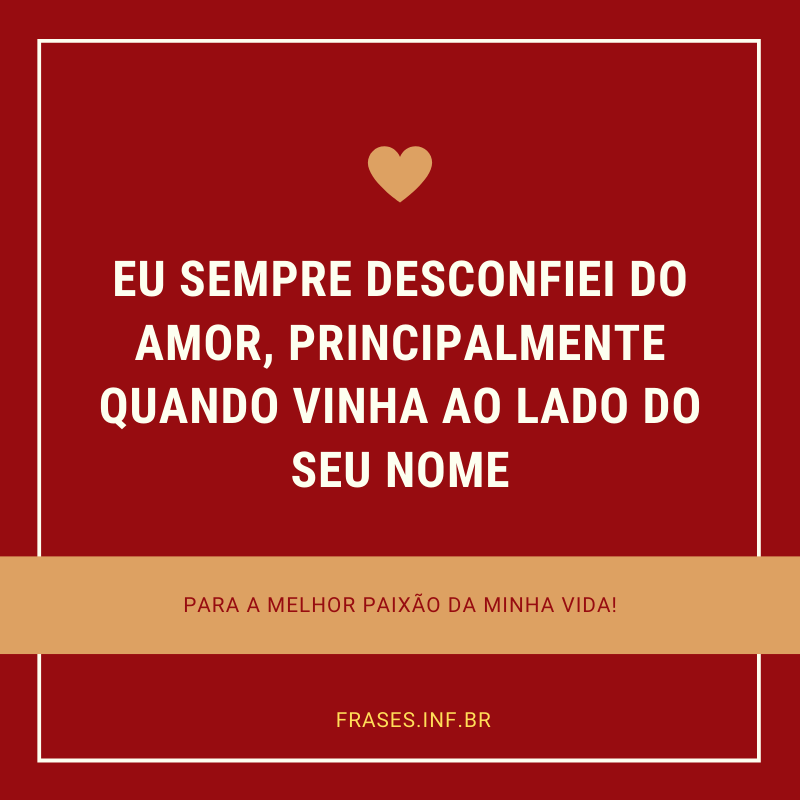 Frase de amor para status do whatsapp