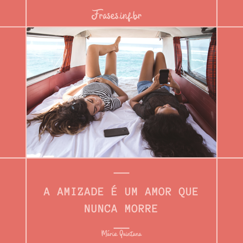 Frase para foto de amizade
